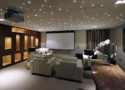 Basement conversion into a cinema room